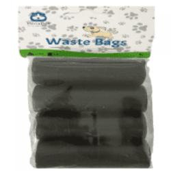 מארז שקיות לכלבים 8 יחידות בצבע שחור